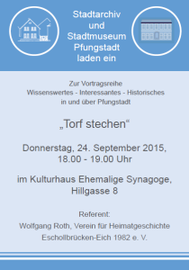 Torf stechen Wolfgang Roth 24.09.2015