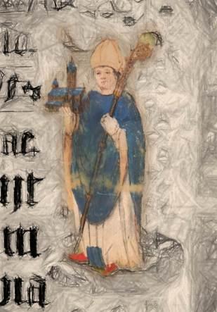 Der Hl. Liudger fand nach langer Suche einen guten Platz für sein Kloster