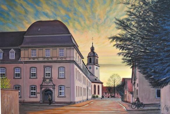 Bild 2 Goetheschule Kirche Abends