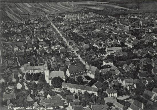 ak-pfungstadt-vom-flugzeug-aus 1932